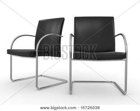 isolated chairs - boardroom - business concept
