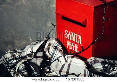 christmas, red mailbox santa, letter to santa