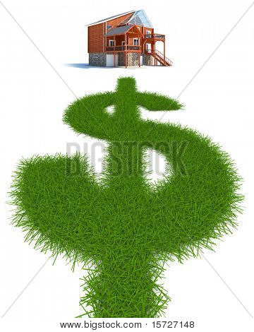 Green way in form a dollar to new house