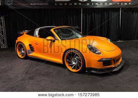 Customized Porsche On Display