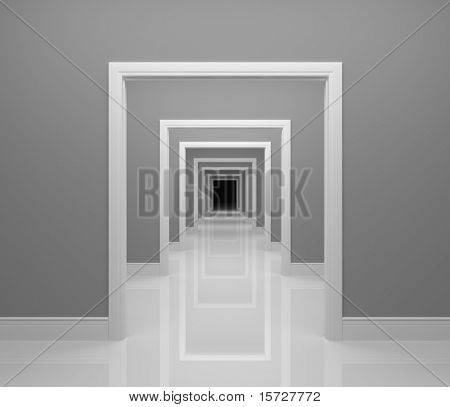 Langen Korridor - konzeptionelle