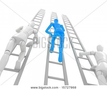 Stairs to success. Business competition concept.
