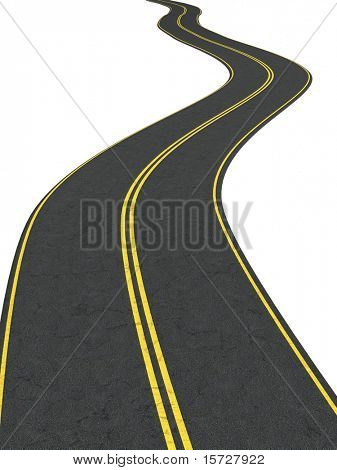Infinity road - isolated on white