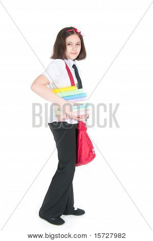 The Schoolgirl With A Red Bag