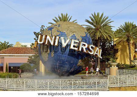 Universal Studios Resort Orlando Florida USA - October 25 2016: The Universal Orlando Resort adventure theme park in Orlando