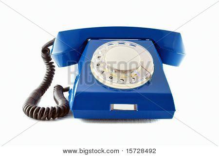 Retro phone - blue