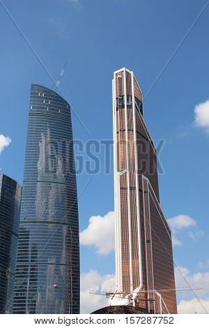 Moscow City . Mercury and Federation skyscrapers