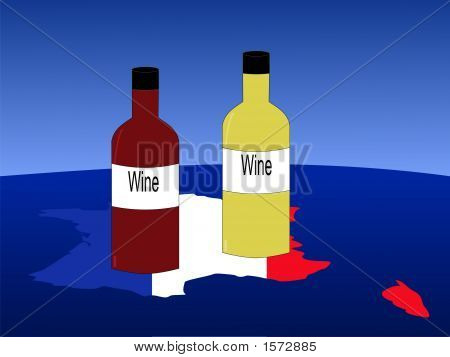 French Wine With Map