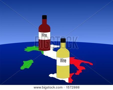 Italian Wine With Map