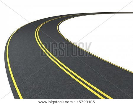 Road. Isolated on white
