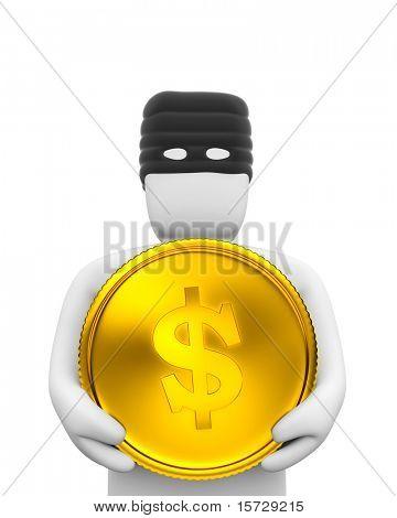 The thief dollar coin