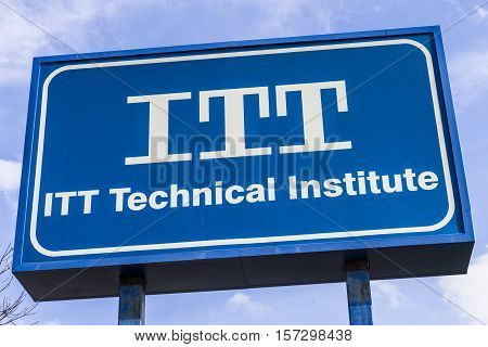 Indianapolis - Circa November 2016: ITT Educational Services Location. ITT Technical Institute has closed all its campuses in the wake of devastating federal sanctions III