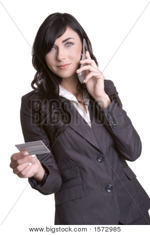 Credit Card Phone Woman