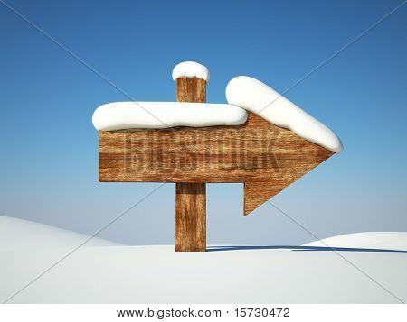 Ponta de seta na neve