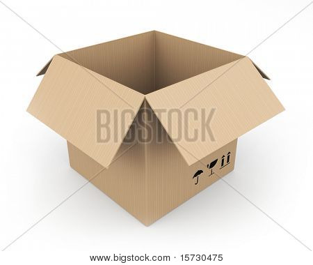 Cardboard box. Easy editable.