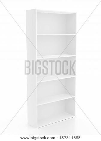 Bookcase Isolated On White Background. Include Clipping Path