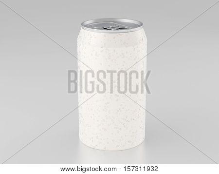 Aluminum Can Mockup Isolated On White Background