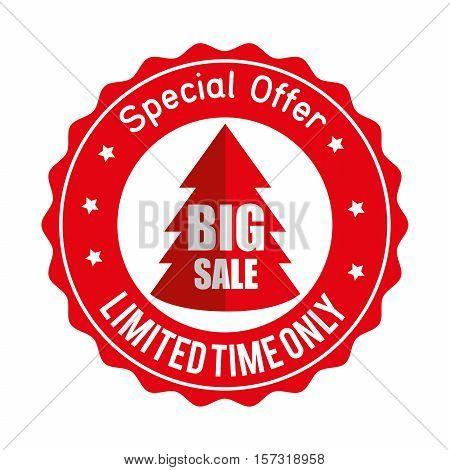christmas big sale special offer sticker vector illustration eps 10
