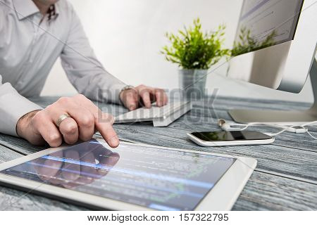 development tablet web seo designer coding code program programming developer compute coder concept - stock image