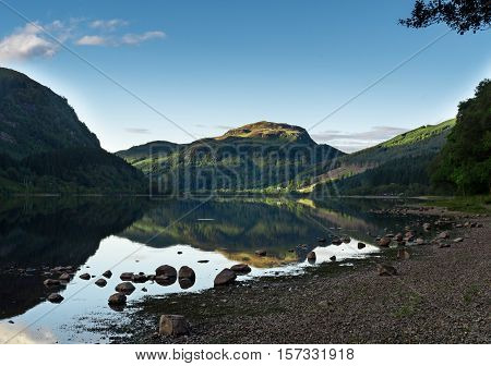 View on beautiful Loch Katrine in the Trossachs area, Scotland