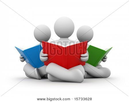 Person read book