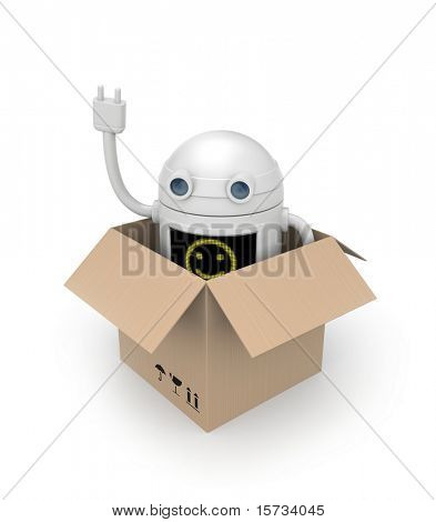 Robot from cardboard box
