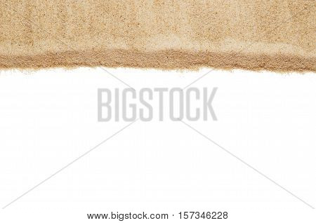 Top view closeup of beach or sand pattern texture. Summer vacation concept. Background for advertising.
