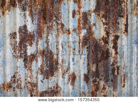 zinc wall texture pattern background rusty corrugated metal old decay nature