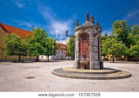 Town of Karlovac landmarks view northern Croatia