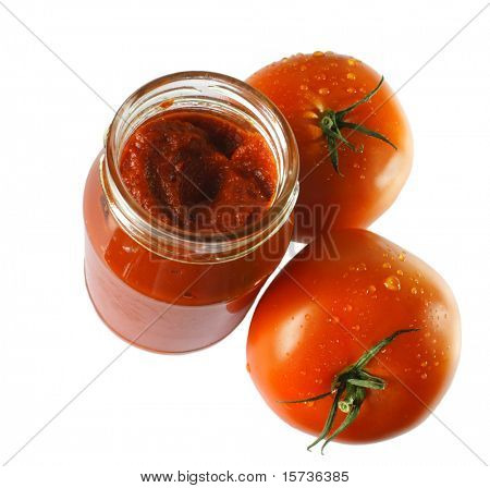 Food ingredients - tomato paste jar
