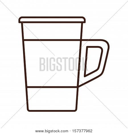 silhouette glass disposable for drinks with handle vector illustration