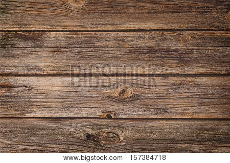 Old wood texture with natural patterns. Top view of a vintage floor or table for background or theme.