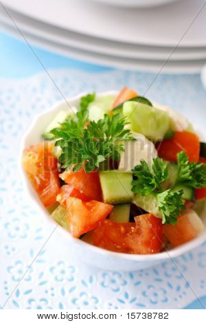 fresh garden salat. raw food. healthy eating