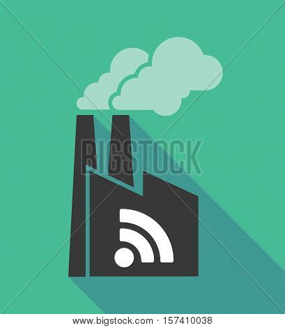 Factory Icon With An Rss Sign