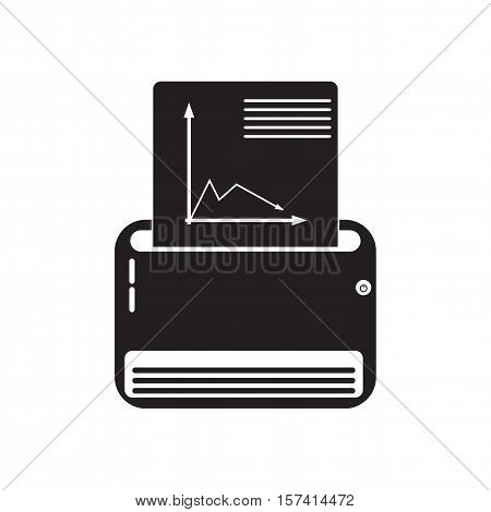 Flat icon in black and  white Fax
