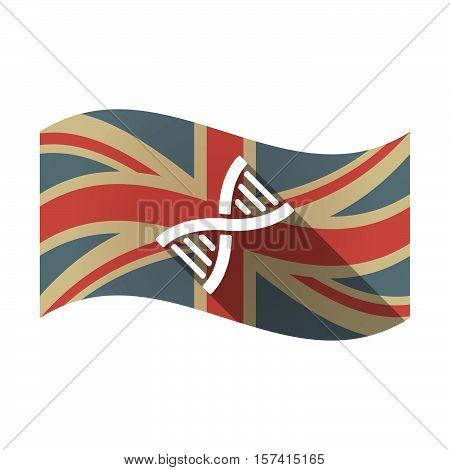 Isolated Uk Flag With A Dna Sign