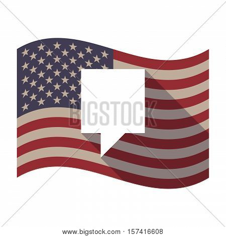 Long Shadow Usa Flag With A Tooltip