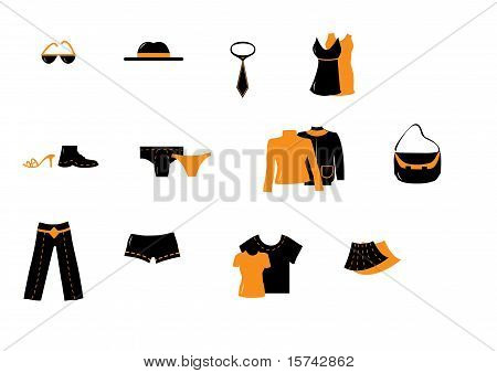 Orange Clothing Vectors