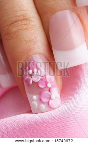 french manicure nails, elegant design
