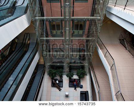 glass elevator shaft
