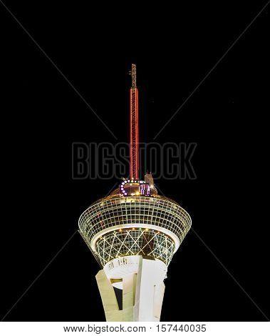Night Lights Of The Sahara Casino & Stratosphere Tower