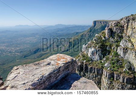 Tundavala near Lubango in Angola where the plateau drops 1000m straight down into the lowlands. In the past convicted criminals had to jump into their deaths here.