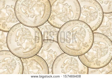 Quarter Coins Background
