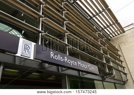 Westhampnett, United Kingdom - August 11: Rolls-royce Motor Cars Entrance Hall At The Goodwood Car F