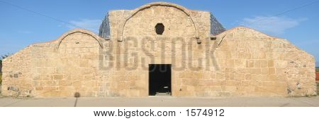 Lare View Of A Special Architectural Church, Sardinia, Italy, Panorama