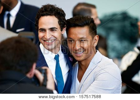 NEW YORK-MAY 5: Zac Posen (L) and Prabal Gurung attend the ribbon cutting ceremony for the Anna Wintour Costume Center Grand Opening at the Metropolitan Museum of Art on May 5, 2014 in New York City.