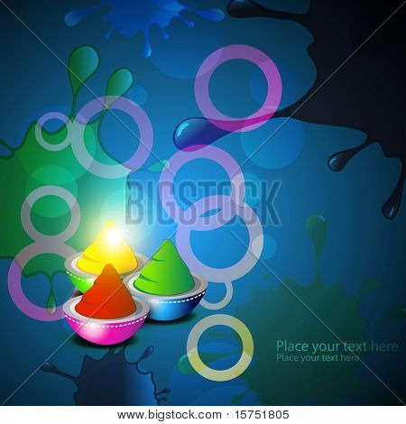 vector holi colors background
