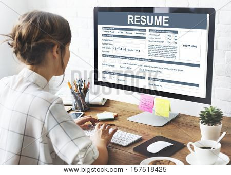 Resume Application Employment Form Concept