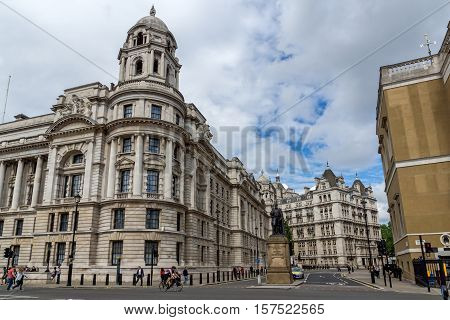 LONDON, ENGLAND - JUNE 16 2016: Whitehall Street,  City of London, England, Great Britain
