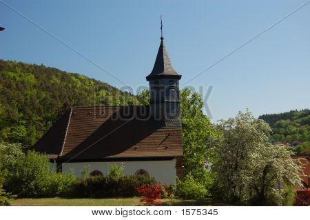 Catholic Church In Hohenecken In Spring